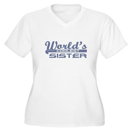 World's Coolest Sister Women's Plus Size V-Neck T-