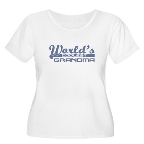 World's Coolest Grandma Women's Plus Size Scoop Ne