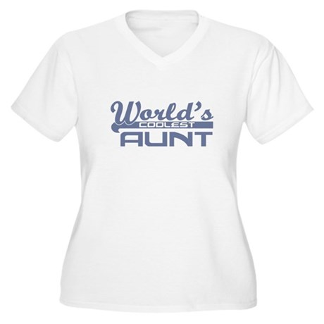 World's Coolest Aunt Women's Plus Size V-Neck T-Sh