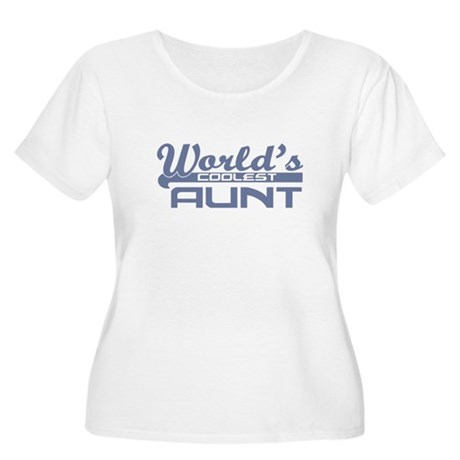 World's Coolest Aunt Women's Plus Size Scoop Neck