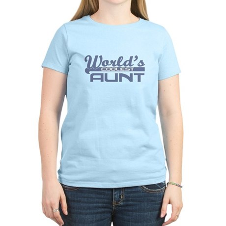 World's Coolest Aunt Women's Light T-Shirt