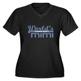 World's Coolest Mimi Women's Plus Size V-Neck Dark