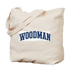 WOODMAN design (blue) Tote Bag