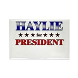 HAYLIE for president Rectangle Magnet (10 pack)