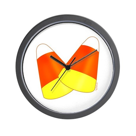 Two Candy Corn Wall Clock
