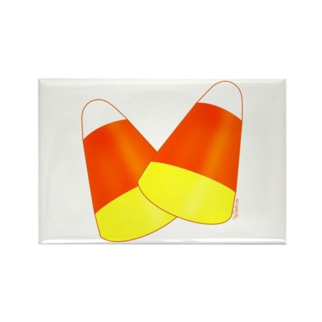 Two Candy Corn Rectangle Magnet