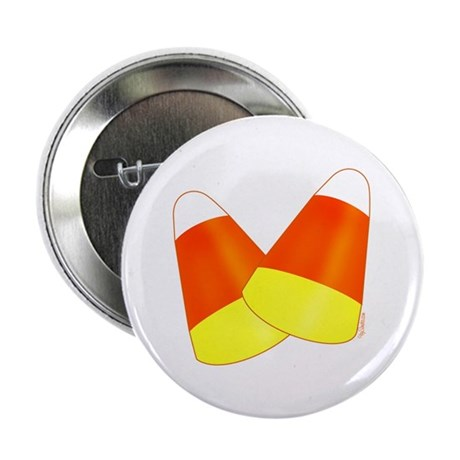 "Two Candy Corn 2.25"" Button"