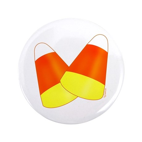 "Two Candy Corn 3.5"" Button"