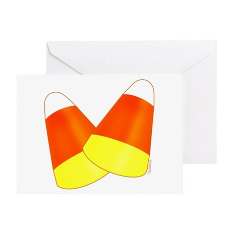 Two Candy Corn Greeting Card