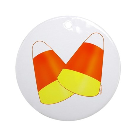 Two Candy Corn Ornament (Round)