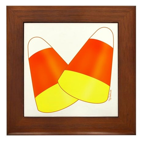 Two Candy Corn Framed Tile