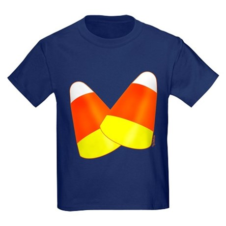 Two Candy Corn Kids Dark T-Shirt