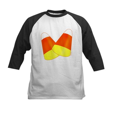 Two Candy Corn Kids Baseball Jersey