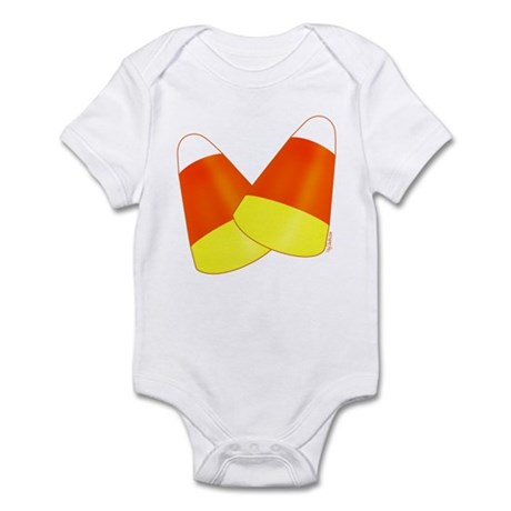 Two Candy Corn Infant Bodysuit