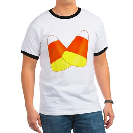 Two Candy Corn Ringer T