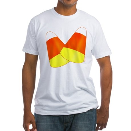 Two Candy Corn Fitted T-Shirt