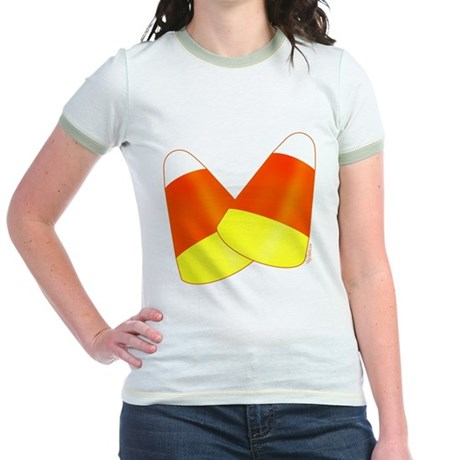 Two Candy Corn Jr. Ringer T-Shirt