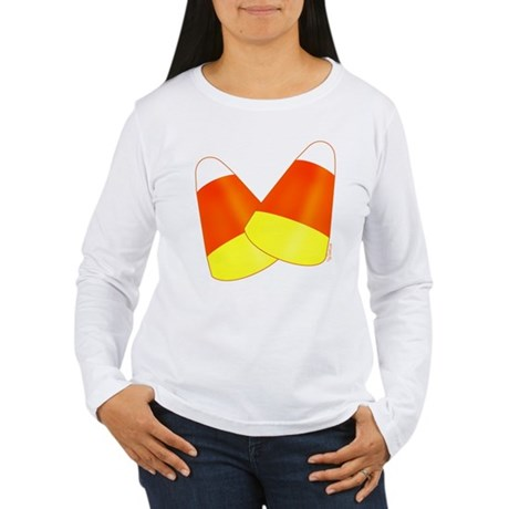 Two Candy Corn Women's Long Sleeve T-Shirt