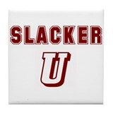 Cute Slacker Tile Coaster