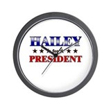 HAILEY for president Wall Clock