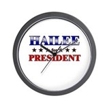 HAILEE for president Wall Clock