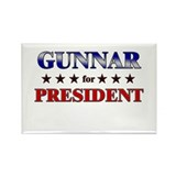 GUNNAR for president Rectangle Magnet (10 pack)