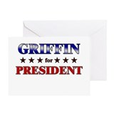 GRIFFIN for president Greeting Card