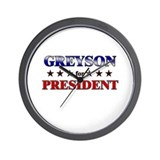 GREYSON for president Wall Clock