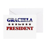 GRACIELA for president Greeting Cards (Pk of 20)