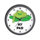 My Pad Frog Wall Clock