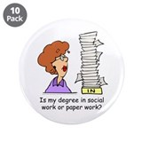 "My Degree (Design 2) 3.5"" Buttons (10 pack)"