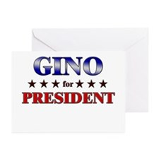 GINO for president Greeting Cards (Pk of 10)