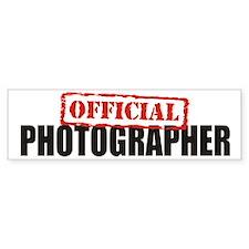 Official Photographer Bumper Bumper Sticker