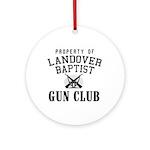 Gun Club Ornament (Round)