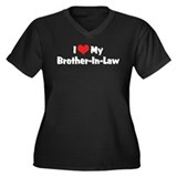 I Love My Brother-In-Law Women's Plus Size V-Neck