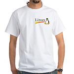 White T-Shirt Montana Linux Groups