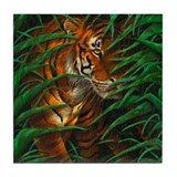 Tiger in the Jungle Tile Coaster