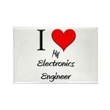 I Love My Electronics Engineer Rectangle Magnet