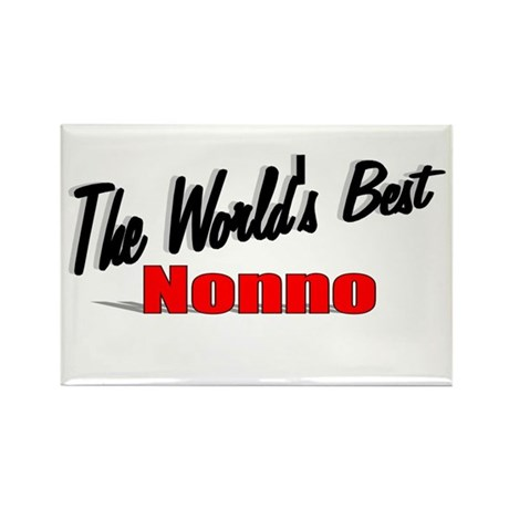 """The World's Best Nonno"" Rectangle Magnet"