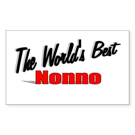 """The World's Best Nonno"" Rectangle Sticker"