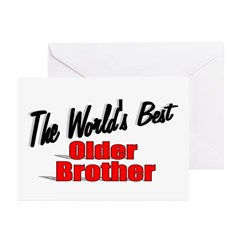 """The World's Best Older Brother"" Greeting Cards (P"