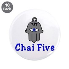 "Chai five 3.5"" Button (10 pack)"