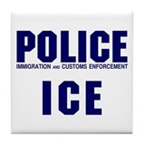 POLICE ICE Tile Coaster