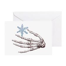 Skeletal Snowflake Solstice Card