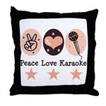 Peace Love Karaoke Throw Pillow