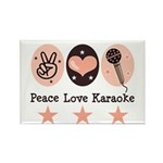 Peace Love Karaoke Rectangle Magnet