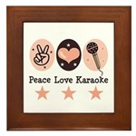 Peace Love Karaoke Framed Tile
