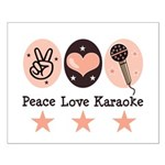Peace Love Karaoke Small Poster