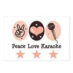 Peace Love Karaoke Postcards (Package of 8)