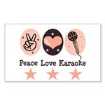 Peace Love Karaoke Rectangle Sticker